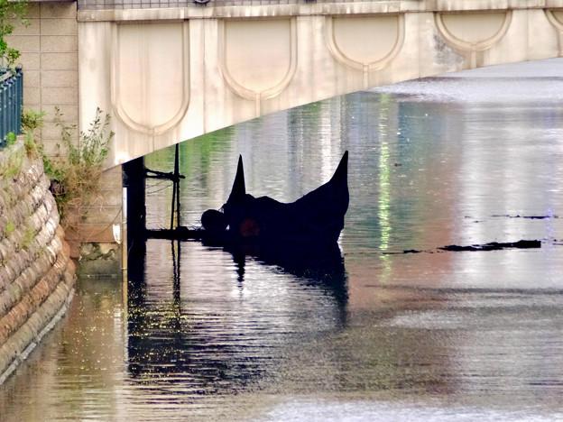 堀川:錦橋下に停留されてたゴンドラ - 2