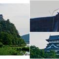 写真: 木曽川沿いから見上げた、落雷でシャチホコが壊れた犬山城(2017年7月15日) - 18