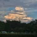 写真: 遠くに見えた発達した入道雲 - 1
