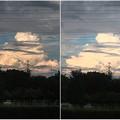写真: iPhoneカメラアプリHDR比較(遠くに見えた入道雲)- 1
