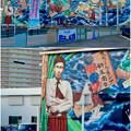写真: 安城七夕まつり 2017 No - 192:日通の倉庫に巨大な新美南吉の壁面アート
