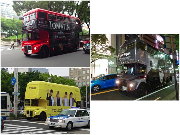 名古屋栄で時々見かけるPRのためのロンドンバス - 5