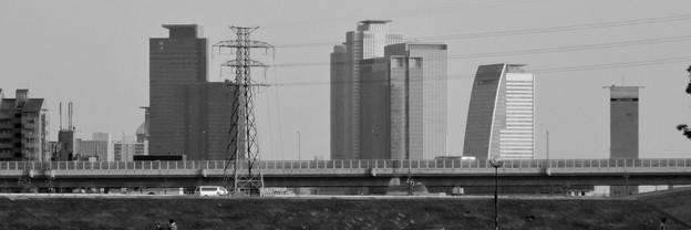 庄内緑地公園から見た名駅ビル群