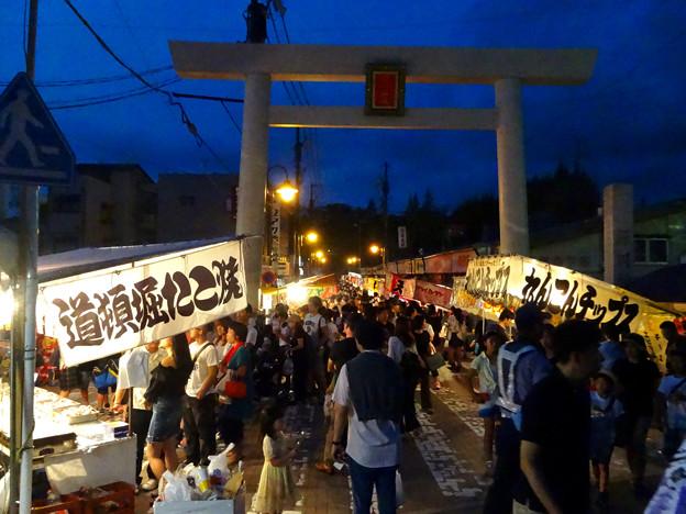 せともの祭 2017 No - 23:夜の深川神社参道沿いの屋台