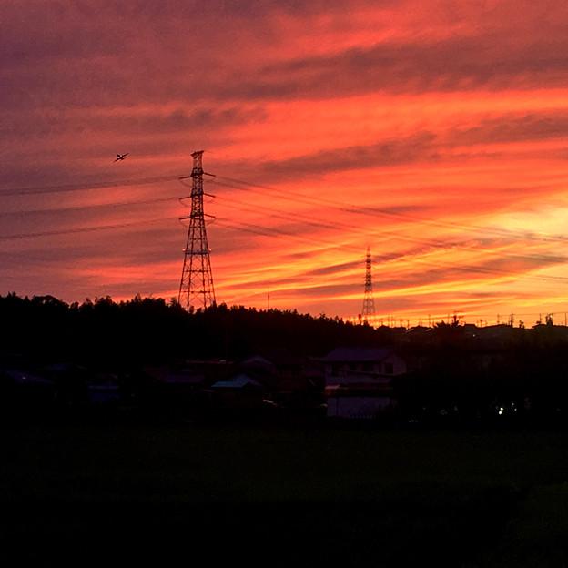 鉄塔と夕焼け - 2