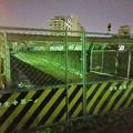 Photos: 桃花台線撤去工事:旧車両基地進入路を車両搬入口に変更? - 1