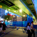 撤去作業が行われてた、矢場町交差点のお化け屋敷 - 1