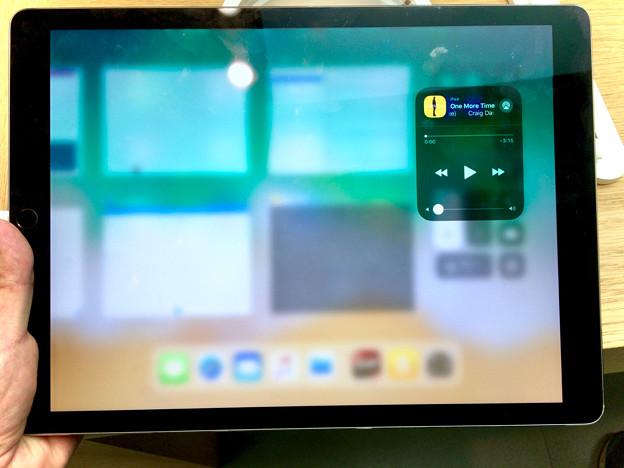 iOS 11が入ったiPad Pro No - 4:コントロールセンターで音楽コントロール
