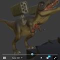 Photos: 3Dモデル共有サービス「Sketchfab」公式アプリ - 46:各モデルのページ(ロケットランチャーを装備したティラノサウルス)