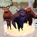 3Dモデル共有サービス「Sketchfab」公式アプリ - 65:3DモデルをAR!(トナカイとバッファローと熊)