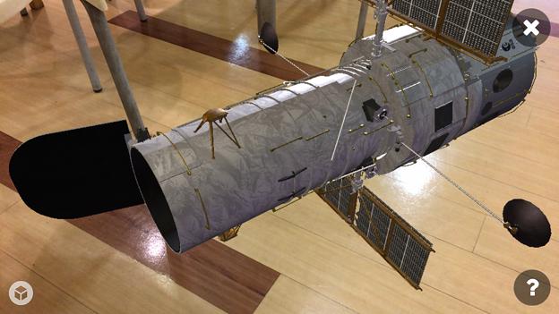 3Dモデル共有サービス「Sketchfab」公式アプリ - 114:3DモデルをAR!(ハッブル宇宙望遠鏡)