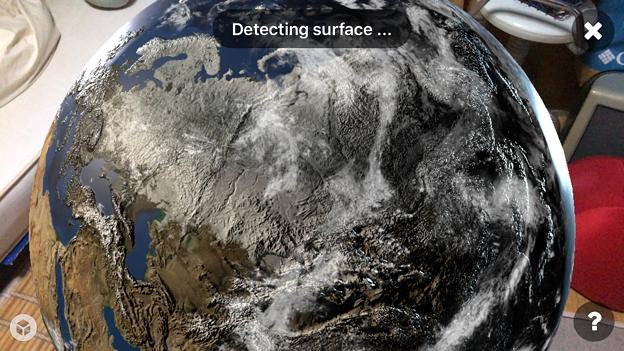 Sketchfabで地球を表示 - 4(AR)