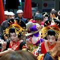 大須大道町人祭 2017 No - 85:夜のおいらん道中(休憩中)