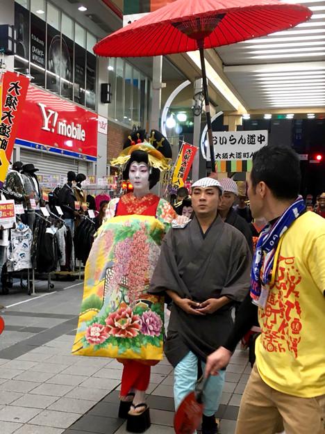 Photos: 大須大道町人祭 2017 No - 94:夜のおいらん道中