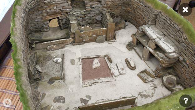スコットランドの集落遺跡「スカラ・ブレイ(その1)」 No - 8:ARで表示