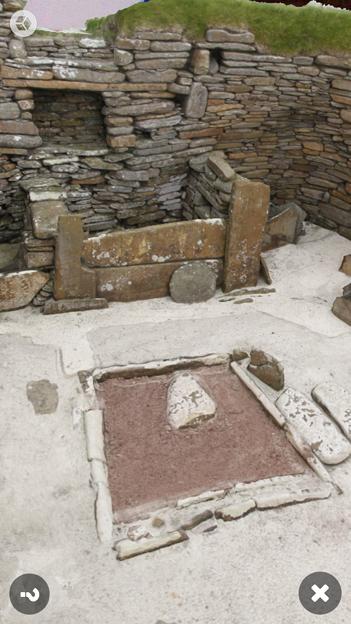 スコットランドの集落遺跡「スカラ・ブレイ(その1)」 No - 9:ARで表示