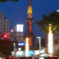 大津通から見た名古屋テレビ塔のイルミネーション(2017年11月3日)