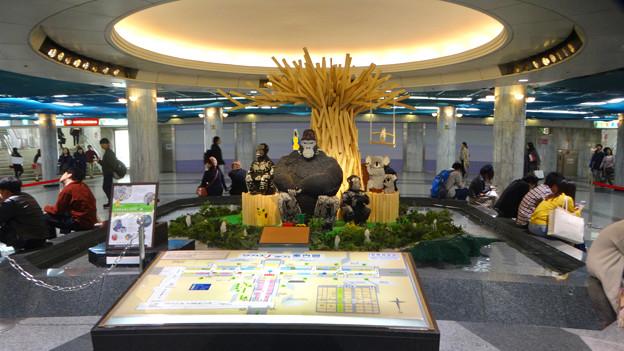 クリスタル広場のレゴで作られた東山動植物園の動物たち - 1