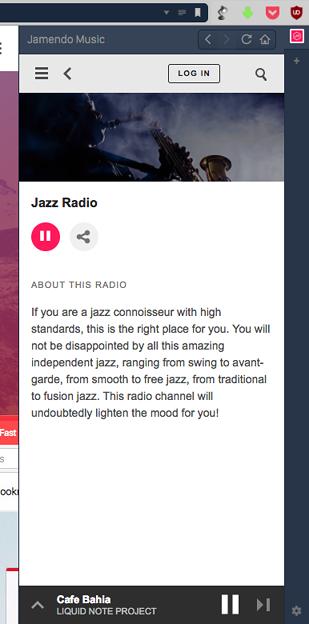 Vivaldi WEBパネルで「Jamendo Music」使うなら「ラジオ」モードがお薦め! - 2