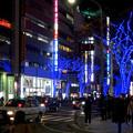 今年(2017年)も始まった、大津通の街路樹のクリスマス・イルミネーション - 1
