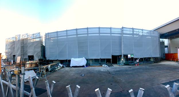 JR春日井駅北口に交番が建設中(2017年12月17日) - 2:パノラマ