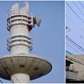 写真: 名古屋市北消防署のUFOみたいに見える通信塔 - 16