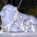 写真: ひっそりとしてた戌年の夜の羊神社 - 4:羊の像