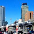 写真: 名駅ビル群をバックに走る新幹線(2013年撮影)- 3