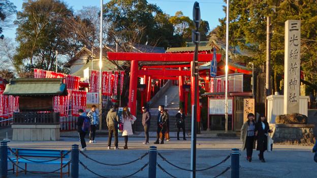 大勢の人で賑わってた、1月の週末の犬山城下町 - 14(三光稲荷神社)