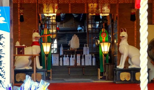 写真: 三光稲荷神社のキツネ像 - 1