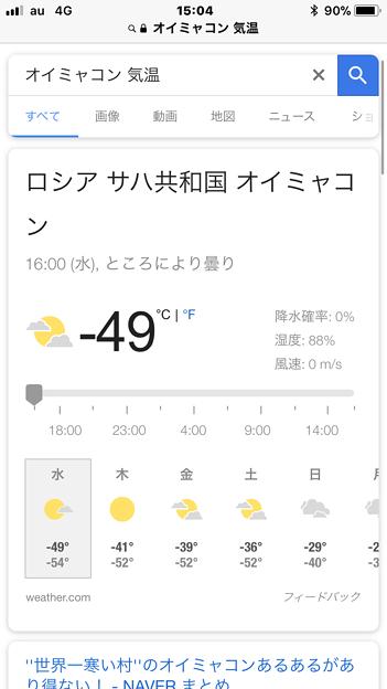 ニュースに出てたロシア・サハ共和国の気温がやばい… - 2