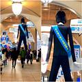 写真: ナナちゃん人形:マイナビ就職EXPOをPR - 7(髪の長いおっさんみたいな後ろ姿w)