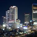 写真: グローバルゲート最上階から撮影した夜の名駅ビル群 - 3