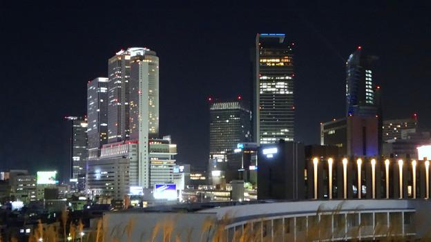 グローバルゲート最上階から撮影した夜の名駅ビル群 - 4