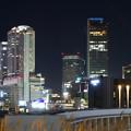 写真: グローバルゲート最上階から撮影した夜の名駅ビル群 - 4