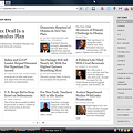 写真: OperaでChromeアプリケーション「NYTimes」と同じページを開く