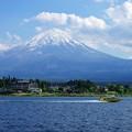 河口湖と富士