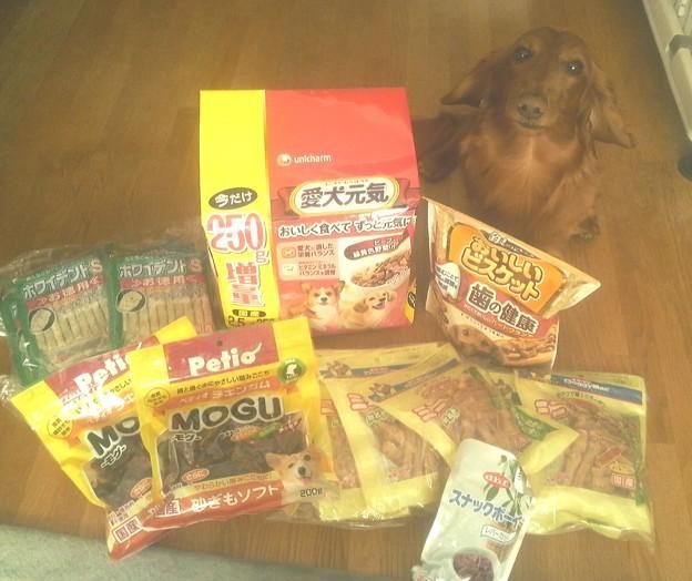 iyon20110424 犬のおやつ大人買い?