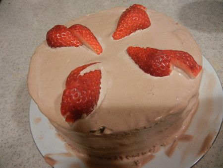 単純な苺のショートケーキ