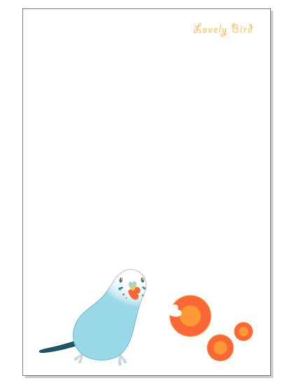105ポストカード/にんじん/セキセイ・ブルー