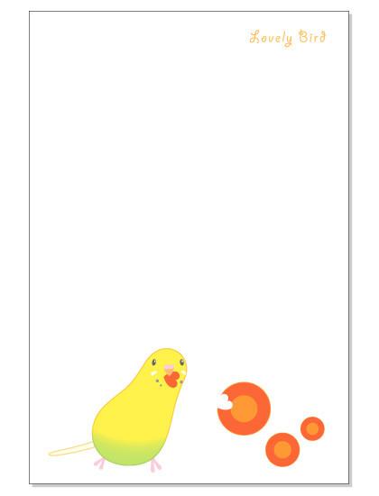 107ポストカード/にんじん/セキセイ・黄ハルクイン