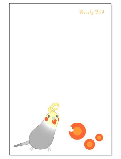 113ポストカード/にんじん/オカメ・グレー1