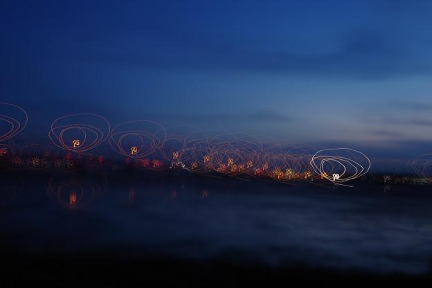 アート花火の練習に橋を撮った写真