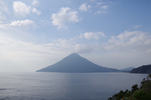 長崎鼻からの開聞岳