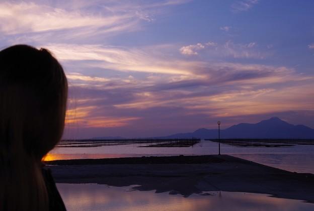 Photos: 一緒に眺める有明海