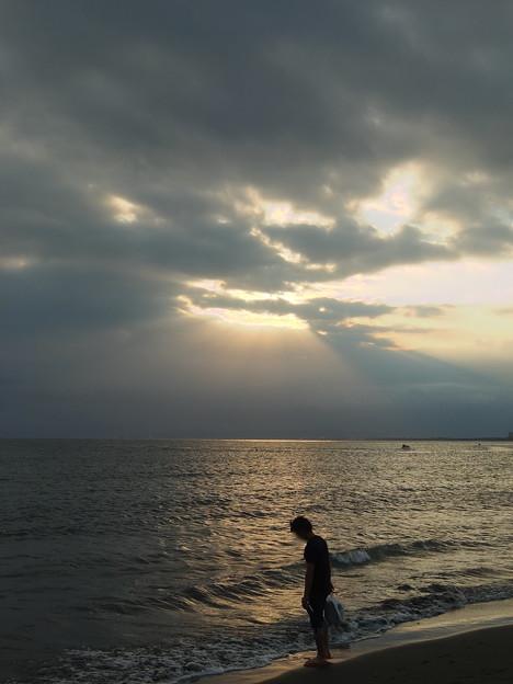 片瀬西浜にて