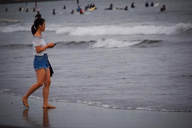 湘南・鵠沼海岸夕景 #湘南 #藤沢 #海 #波 #wave #surfing #mysky #beach