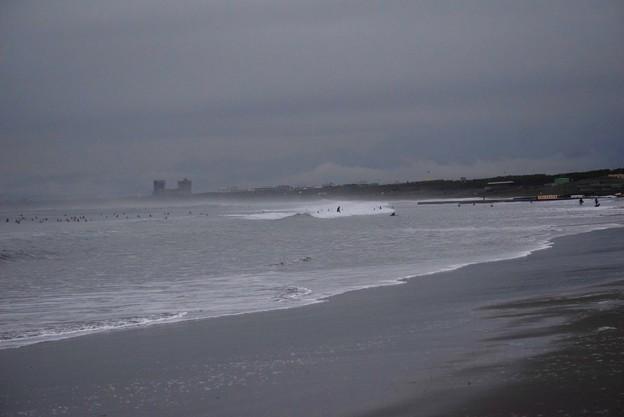 台風の影響が出ている湘南・鵠沼海岸 #湘南 #藤沢 #海 #波 #wave #surfing #mysky #beach