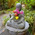 写真: 花想い地蔵@明月院 #湘南 #鎌倉 #kamakura #寺 #temple #花 #flower