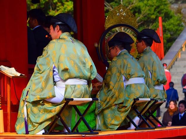 雅楽の奏者@鶴岡八幡宮 #湘南 #鎌倉 #kamakura #japan #mysky #神社 #shrine